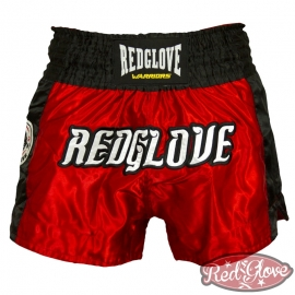 PANTALÓN MUAY THAI RED/WHITE FIGHTERS